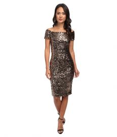 French Connection Cosmic Sparkle Dress 71CSA Tiger Gold at 6pm