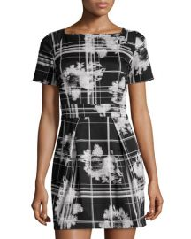 French Connection Floral Plaid Dress at Last Call