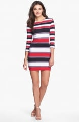 French Connection Kiren Stripe Stretch Cotton Body-Con Dress at Nordstrom
