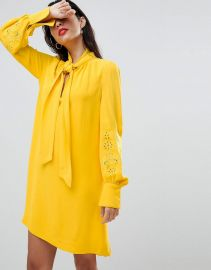 French Connection Pussybow Dress at Asos