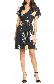 French Connection Shikoku Floral Faux Wrap Dress   Nordstrom at Nordstrom