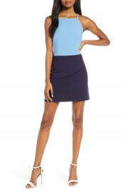 French Connection Whisper Colorblock Minidress   Nordstrom at Nordstrom