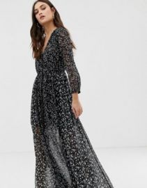 French Connection mix print fluid dress   ASOS at Asos