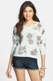 Frenchiand174 Floral Print Crop Pullover at Nordstrom