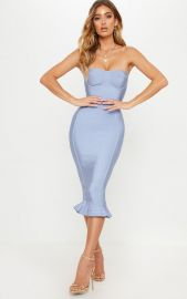 Frill Hem Bandage Midi Dress by Pretty Little Thing at Pretty Little Thing
