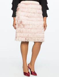 Fringe Pencil Skirt by Eloquii at Eloquii
