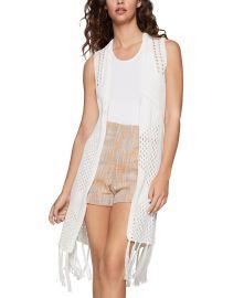 Fringe-Trim Knit Vest by BCBGeneration at Macys