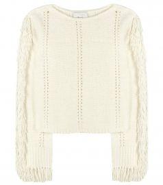 Fringed sweater at Mytheresa
