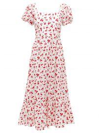 Fromer cherry-Print Cotton-Blend Poplin Dress by HVN at Matches
