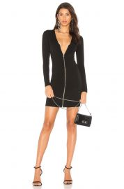 Front Zip Mini Dress by T by Alexander Wang at Revolve