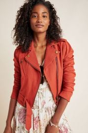 Frye x Anthropologie Vita Moto Jacket at Anthropologie