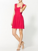 Fucshia textured dress at Piperlime