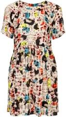 Fun Leopard Print Tunic Dress at Topshop
