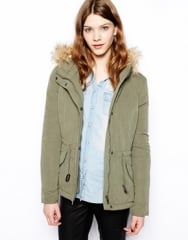 Fur Hood Parka by Only at Asos