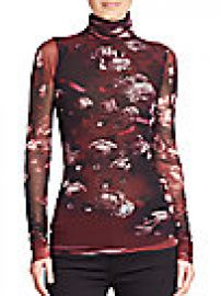 Fuzzi - Floral Printed Turtleneck Top at Saks Fifth Avenue