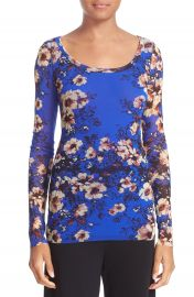 Fuzzi Floral Print Tulle Top at Nordstrom