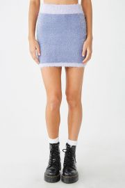 Fuzzy Colorblock Skirt at Forever 21