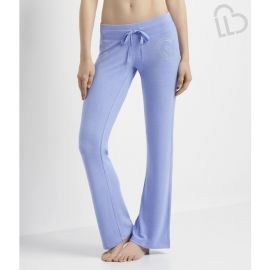 Fuzzy Fleece Heart Flare Sweatpants at Aeropostale