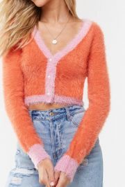 Fuzzy cardigan by Forever 21 at Forever 21