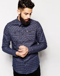 G-Star  G-Star Denim Shirt Arc 3D Tale Check at Asos