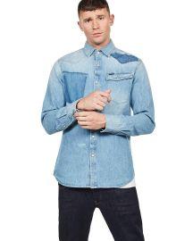 G-Star Men s 3301 Slim Shirt  Blue at Amazon