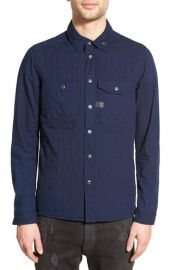 G-Star Raw Wolker Extra Trim Fit Quilted Shirt Jacket at Nordstrom