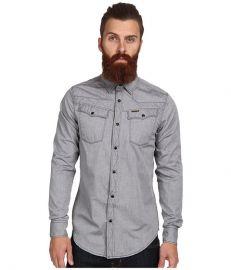 G-Star Tailor LS Shirt in Douglas Oxford Black Black at Zappos
