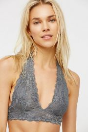 GALLON LACE HALTER BRALETTE at Shoptiques