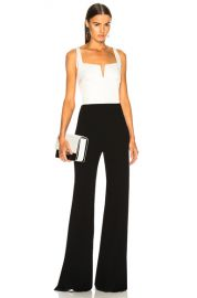 GALVAN Eclipse Jumpsuit in White   Black   FWRD at Forward