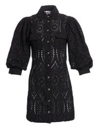 GANNI - Broderie Anglaise Mini Dress at Saks Fifth Avenue