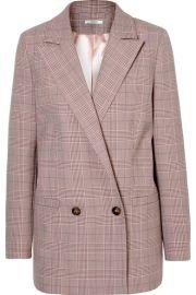 GANNI - Checked cady blazer at Net A Porter