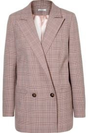 GANNI - Checked cady blazer at Net A Porter