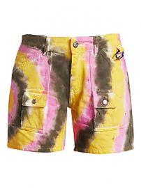 GANNI - Colored Washed Denim Shorts at Saks Fifth Avenue