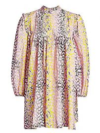 GANNI - Cotton Poplin Trapeze Dress at Saks Fifth Avenue