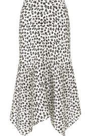 GANNI   Dufort asymmetric printed silk-satin midi skirt at Net A Porter