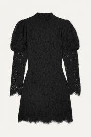 GANNI - Lace mini dress at Net A Porter