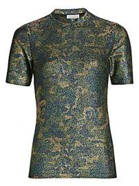 GANNI - Lurex Jersey Shirt at Saks Fifth Avenue