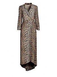 GANNI - Mullin Leopard Georgette Wrap Dress at Saks Fifth Avenue