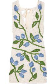 GANNI - Orsay embellished chiffon mini dress at Net A Porter