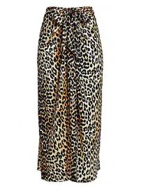 GANNI - Silk Stretch Satin Maxi Skirt at Saks Fifth Avenue