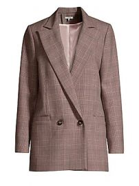 GANNI - Suiting Plaid Double-Breasted Blazer at Saks Fifth Avenue