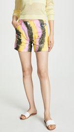 GANNI Color Washed Denim Shorts at Shopbop