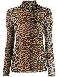 GANNI Mesh Leopard Top - Farfetch at Farfetch