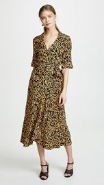 GANNI Printed Crepe Dress at Shopbop