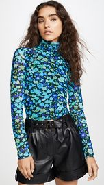 GANNI Printed Mesh Top at Shopbop
