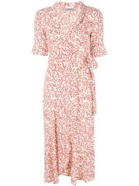 GANNI Printed Wrap Dress - Farfetch at Farfetch