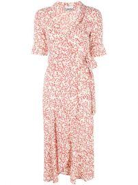 GANNI Printed Wrap Dress - Farfetch at Farfetch