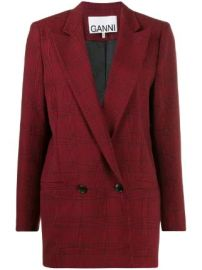 GANNI Suiting checked blazer Suiting checked blazer at Farfetch