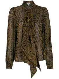 GANNI animal-print blouse animal-print blouse at Farfetch