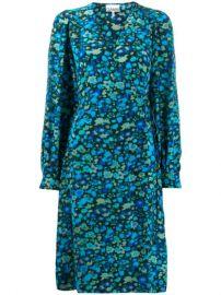 GANNI floral-print Wrap Dress - Farfetch at Farfetch